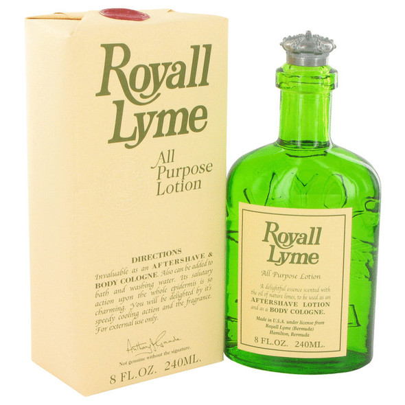 ROYALL LYME by Royall Fragrances All Purpose Lotion / Cologne 8 oz for Men