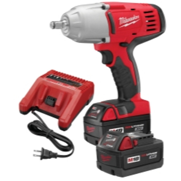 """M18 1/2"""" Drive Impact Wrench And Frict Ring W/ (2) Batteries Kit"""