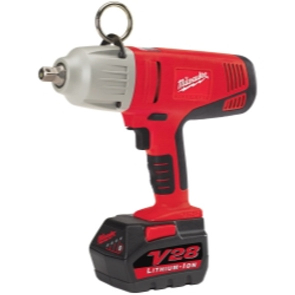 Milwaukee M28 1/2 In. Cordless Impact Wrench W/ (2) Batteries Kit, 325 Ft.-lb. Max. Torque