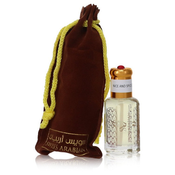 Nice and Spice by Swiss Arabian Perfume Oil (Unisex) .41 oz for Men