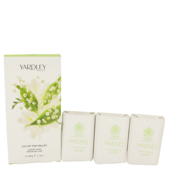 Lily of The Valley Yardley by Yardley London 3 x 3.5 oz Soap 3.5 oz for Women