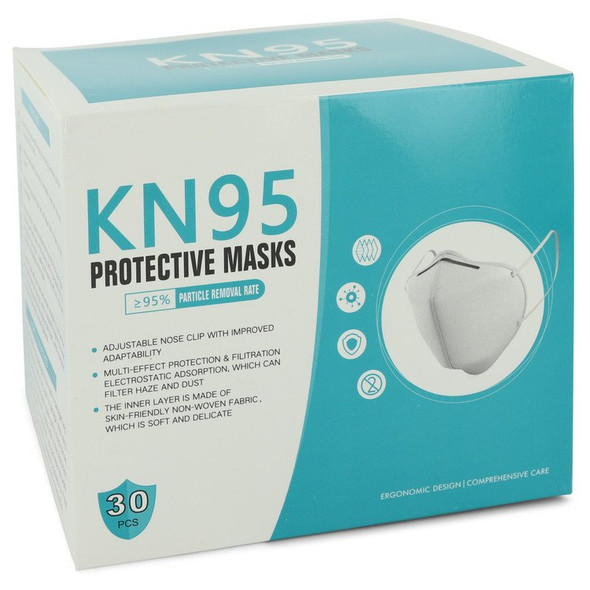 KN95 Mask by KN95 Thirty  KN95 Masks, Adjustable Nose Clip, Soft non-woven fabric, FDA and CE Approved (Unisex)(30 slightly damaged) 1 size for Women