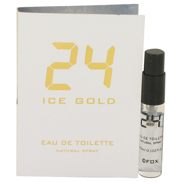 24 Ice Gold by ScentStory Vial (Sample) .10 oz for Men