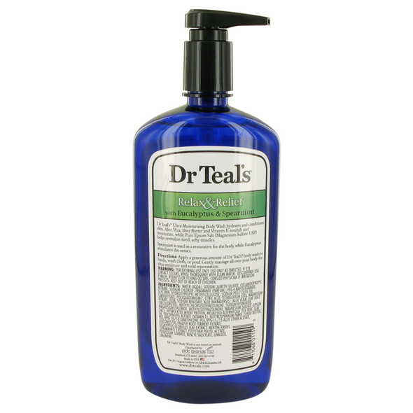 Dr Teal's Body Wash With Pure Epsom Salt by Dr Teal's Body Wash with pure epsom salt with eucalyptus & Spearmint 24 oz for Women