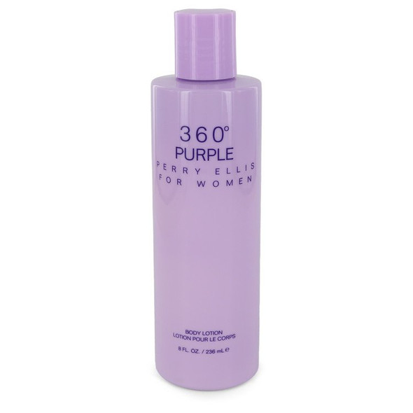 Perry Ellis 360 Purple by Perry Ellis Body Lotion 8 oz for Women