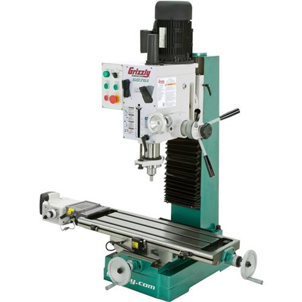 Grizzly G0760 Mill/Drill with Stand 8 x 29 Table with Powerfeed ...