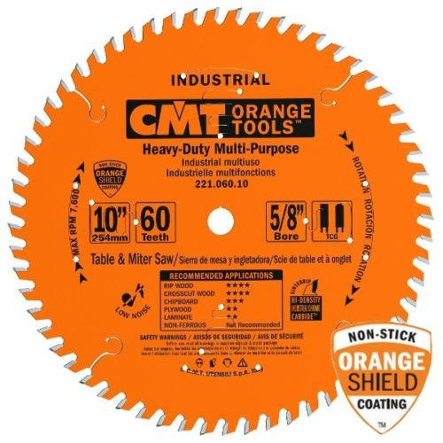 CMT 221 060 10 Industrial Cabinetshop Saw Blade, 10-Inch x 60 Teeth