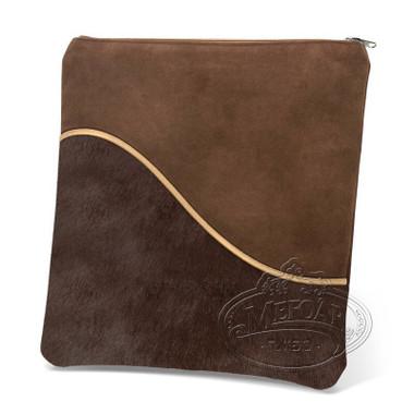Exceptional Artistry, Modern Style Tallis / Tefillin Bag, Brown Fur/Brown, FS