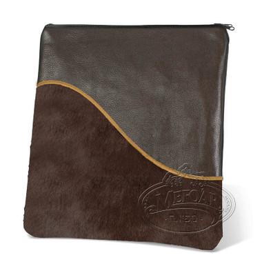 Exceptional Artistry, Modern Style Tallis / Tefillin Bag, Brown/Brown Fur, LF