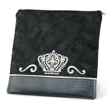 Royal Artistry, Classic Style Tallis / Tefillin Bag, Black Fur/Grey, LF