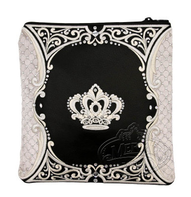 Intricate Nobility, Decorative Style Tallis / Tefillin Bag, Black/Grey, LR