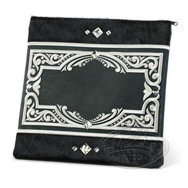 Subtle Grandeur, Decorative Style Tallis / Tefillin Bag, Black Fur/Black, LF