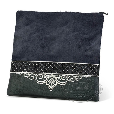 Unparalleled Designs, Elegant Style Tallis / Tefillin Bag, Grey Fur/Black, LF