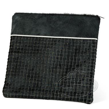 Quality Materials, Modern Style Tallis / Tefillin Bag, Black Premium/Black Fur, FP