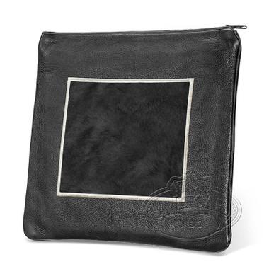 Refined Patterns, Modern Style Tallis / Tefillin Bag, Black/Black Fur, LF