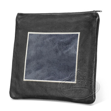 Refined Patterns, Modern Style Tallis / Tefillin Bag, Black/Grey Fur, LF