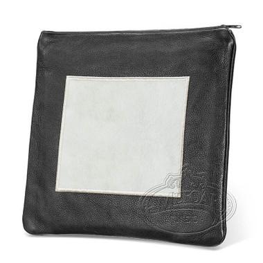 Refined Patterns, Modern Style Tallis / Tefillin Bag, Black/White Fur, LF