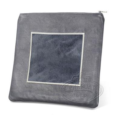 Refined Patterns, Modern Style Tallis / Tefillin Bag, Grey/Grey Fur, LF