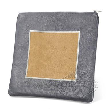 Refined Patterns, Modern Style Tallis / Tefillin Bag, Grey/Camel Fur, LF