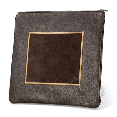Refined Patterns, Modern Style Tallis / Tefillin Bag, Brown/Brown Fur, LF