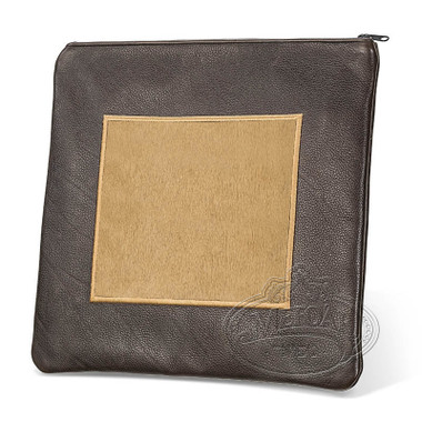 Refined Patterns, Modern Style Tallis / Tefillin Bag, Brown/Camel Fur, LF