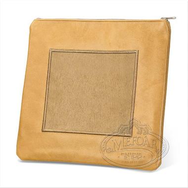 Refined Patterns, Modern Style Tallis / Tefillin Bag, Camel/Camel Fur, LF