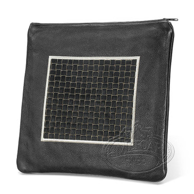 Refined Patterns, Modern Style Tallis / Tefillin Bag, Black/Black Premium , LP