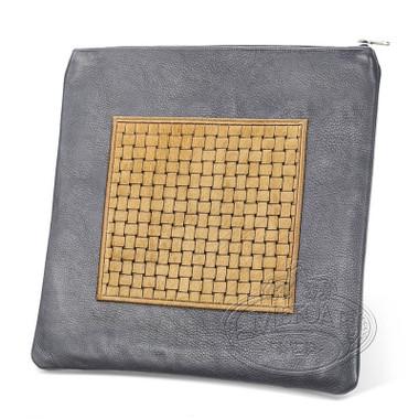 Refined Patterns, Modern Style Tallis / Tefillin Bag, Grey/Camel Premium , LP