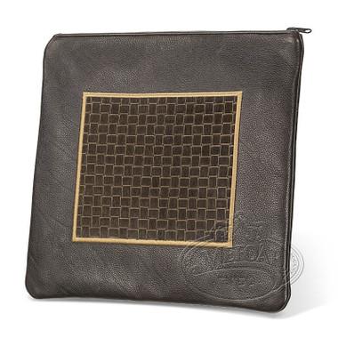 Refined Patterns, Modern Style Tallis / Tefillin Bag, Brown/Brown Premium , LP