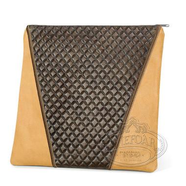 Supreme Finery, Modern Style Tallis / Tefillin Bag, Camel/Brown Exotic, LE