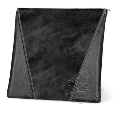 Supreme Finery, Modern Style Tallis / Tefillin Bag, Black/Black Fur, LF