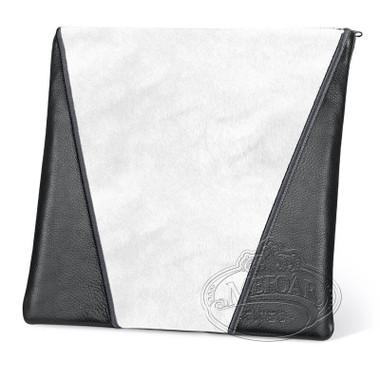 Supreme Finery, Modern Style Tallis / Tefillin Bag, Black/White Fur, LF