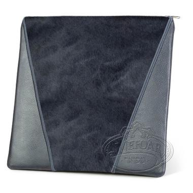 Supreme Finery, Modern Style Tallis / Tefillin Bag, Grey/Grey Fur, LF