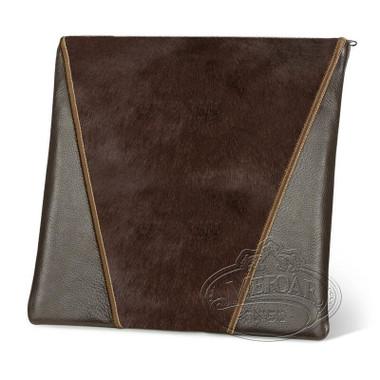 Supreme Finery, Modern Style Tallis / Tefillin Bag, Brown/Brown Fur, LF