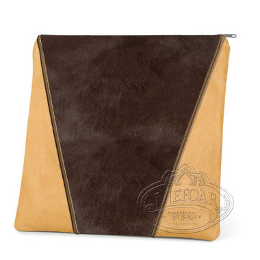 Supreme Finery, Modern Style Tallis / Tefillin Bag, Camel/Brown Fur, LF