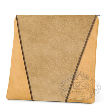 Supreme Finery, Modern Style Tallis / Tefillin Bag, Camel/Camel Fur, LF