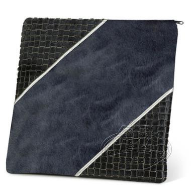 Regal Creations, Modern Style Tallis / Tefillin Bag, Black Premium/Grey Fur, FP