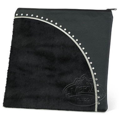 Meticulous Artwork, Modern Style Tallis / Tefillin Bag, Black/Black Fur, LF