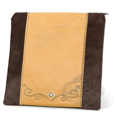 Expert Craftsmen, Classic Style Tallis / Tefillin Bag, Brown Fur/Camel, LF