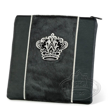 Highest Nobility, Elegant Style Tallis / Tefillin Bag, Black/Black Fur/Black, LF