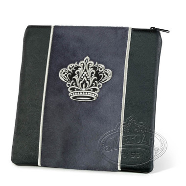 Highest Nobility, Elegant Style Tallis / Tefillin Bag, Black/Grey Fur, LF