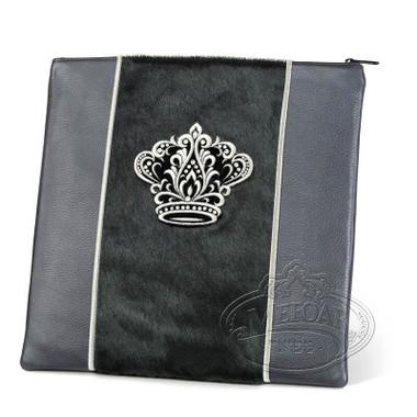 Highest Nobility, Elegant Style Tallis / Tefillin Bag, Grey/Black Fur, LF