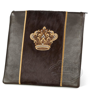 Highest Nobility, Elegant Style Tallis / Tefillin Bag, Brown/Brown Fur, LF