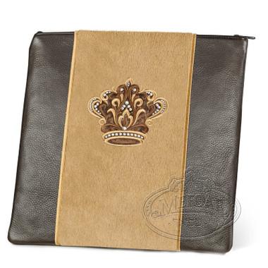 Highest Nobility, Elegant Style Tallis / Tefillin Bag, Brown/Camel Fur, LF