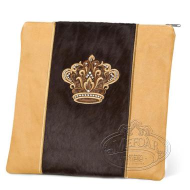 Highest Nobility, Elegant Style Tallis / Tefillin Bag, Camel/Brown Fur, LF