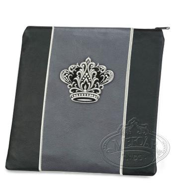 Highest Nobility, Elegant Style Tallis / Tefillin Bag, Black/Grey, LL