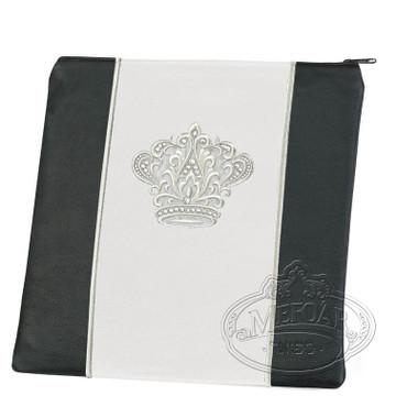 Highest Nobility, Elegant Style Tallis / Tefillin Bag, Black/White, LL