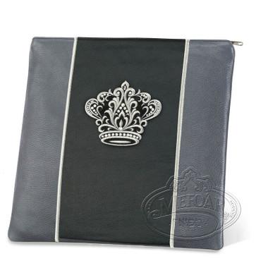 Highest Nobility, Elegant Style Tallis / Tefillin Bag, Grey/Black, LL