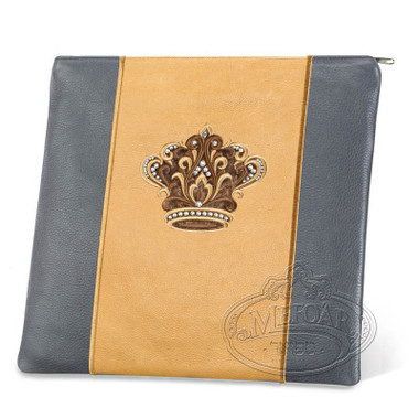 Highest Nobility, Elegant Style Tallis / Tefillin Bag, Grey/Camel, LL