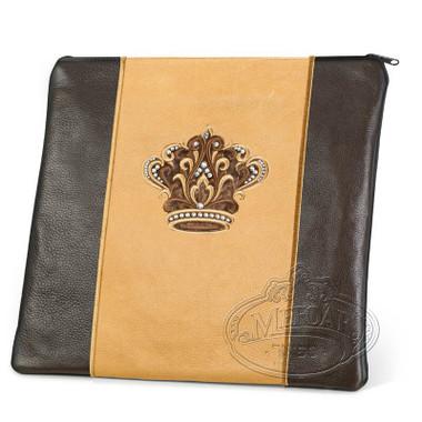 Highest Nobility, Elegant Style Tallis / Tefillin Bag, Brown/Camel, LL